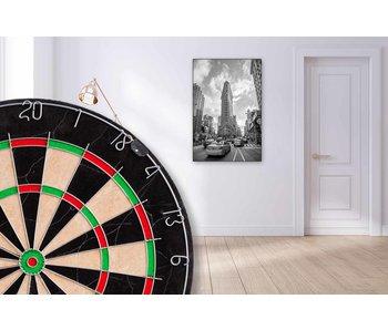 60 x 90 cm dartbord lijst compleet