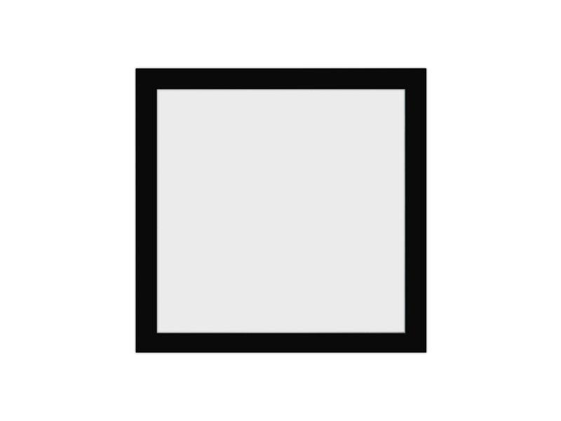 Verdiept inlijsten in 3D lijst met museumglas - zwart fineer