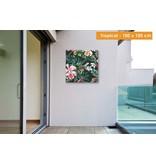 Opgespannen canvas  100 x 100 cm voor buiten