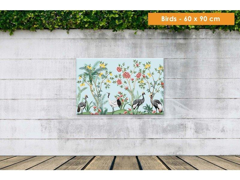 Opgespannen canvas  60 x 90 cm voor buiten