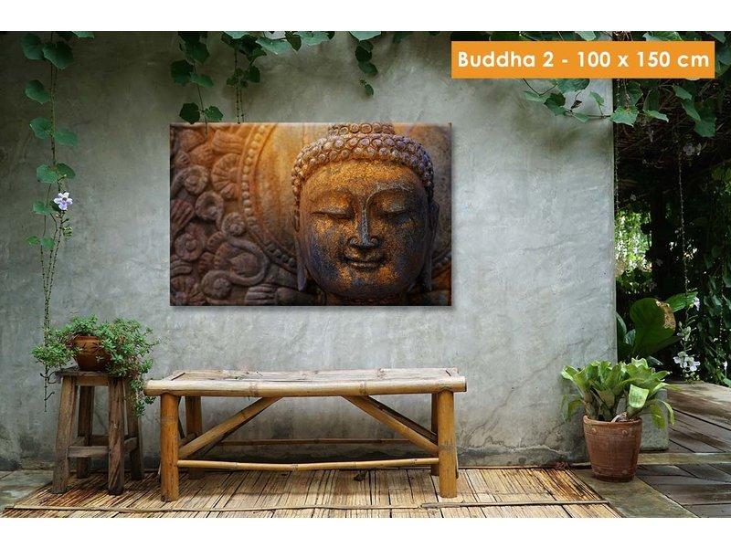 Opgespannen canvas  100 x 150 cm voor buiten