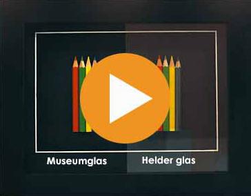 museumglas in lijsten