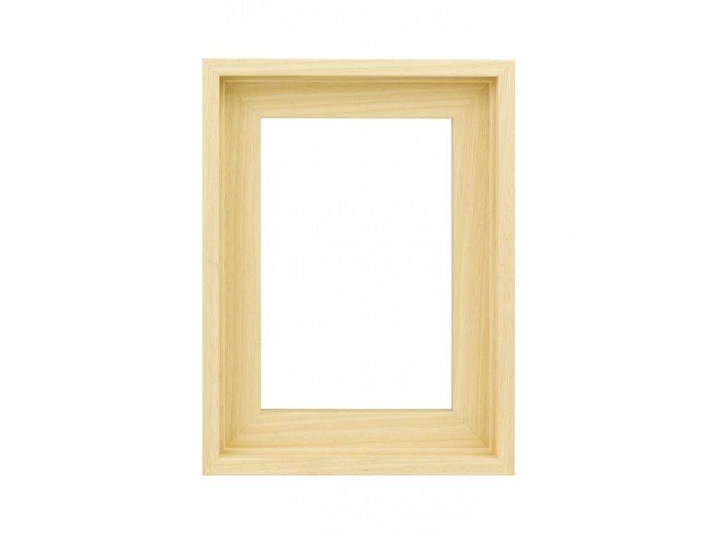 DLF Houten Baklijsten Premium blank onbehandeld - inlijsten schilderij