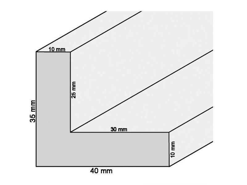 DLF Extra snel leverbare baklijsten Ambiance blank hout zonder trap