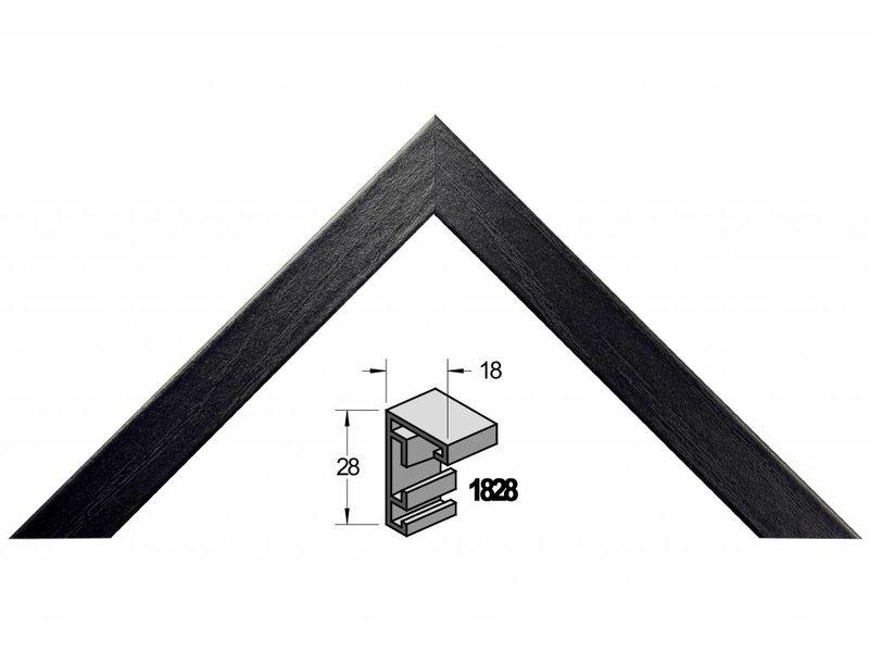 Barth Wissellijst aluminium wissellijst 1828 ZWE zwart essen fineer