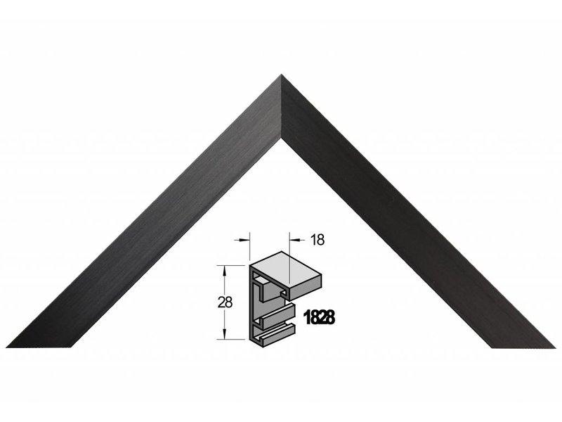 Barth Wissellijst aluminium wissellijst 1828 GZW geschuurd zwart