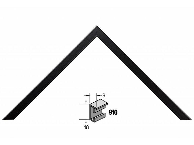 Barth Wissellijst aluminium wissellijst 916 zwart gelakt