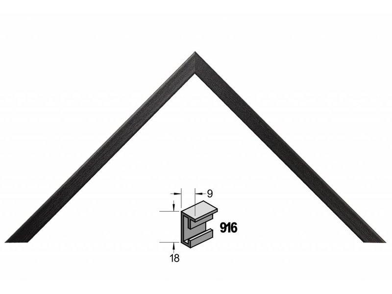 Barth Wissellijst aluminium wissellijst 916 zwart essen fineer
