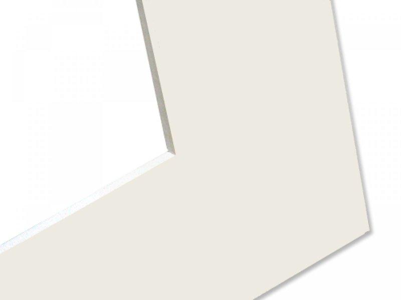 DLF Basic Passe-partouts wit met een witte kern