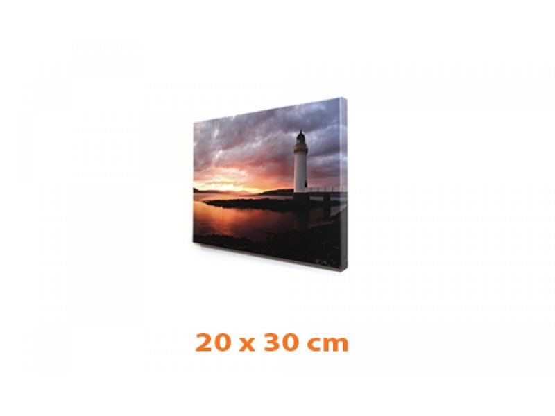 DLF Eigen foto op canvas 20 x 30 cm ingelijst in baklijst