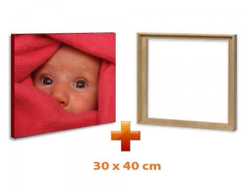 DLF Eigen foto op canvas 30 x 40 cm ingelijst in baklijst