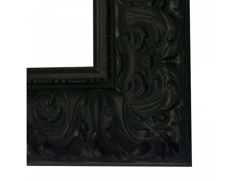DLF Premier Ornament XL mat zwart - zeer brede lijst met ornament