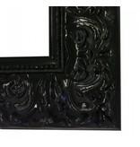 DLF Premier Ornament XL hoogglans zwart - zeer brede lijst met ornament