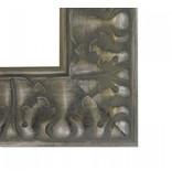 DLF Premier Ornament XL-S zilver grijs - zeer brede lijst met ornament