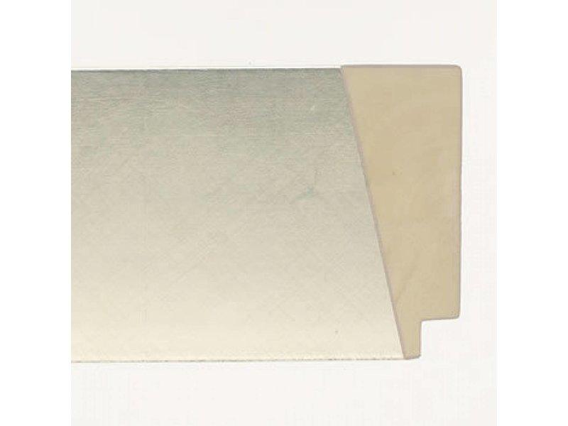 DLF Premier Design XL zilver - zeer brede design lijst met kras