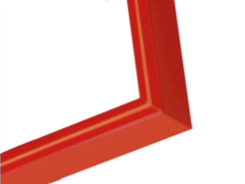 DLF Wissellijst A0 formaat (84 x 118,9 cm) Q-line licht rood- aluminium design lijsten