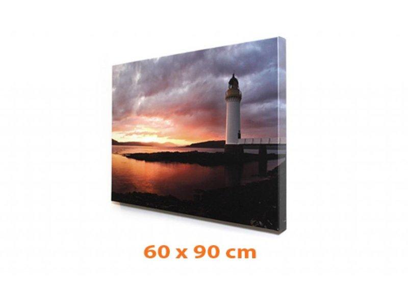 DLF Eigen foto op canvas 60 x 90 cm in baklijst ingelijst