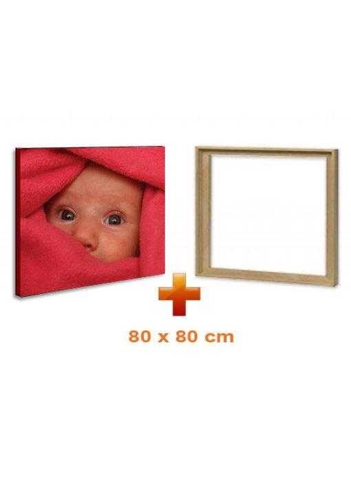 Eigen foto op canvas 80 x 80 cm met baklijst
