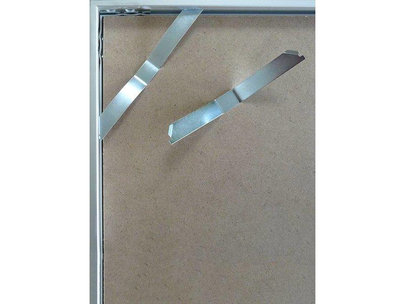 DLF 30x40 cm zilver Pro Line wissellijst   extra solide fotolijsten met een smal profiel.