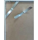 DLF 60x70 cm zilver Pro Line wissellijst  extra solide fotolijsten met een smal profiel.