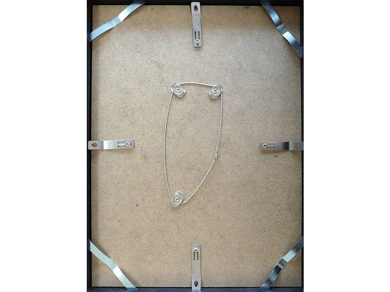 DLF 70x70 cm zilver Pro Line wissellijst  extra solide fotolijsten met een smal profiel.