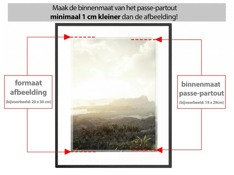 DLF 30x30 cm witte Pro Line wissellijst  extra solide fotolijsten met een smal profiel.