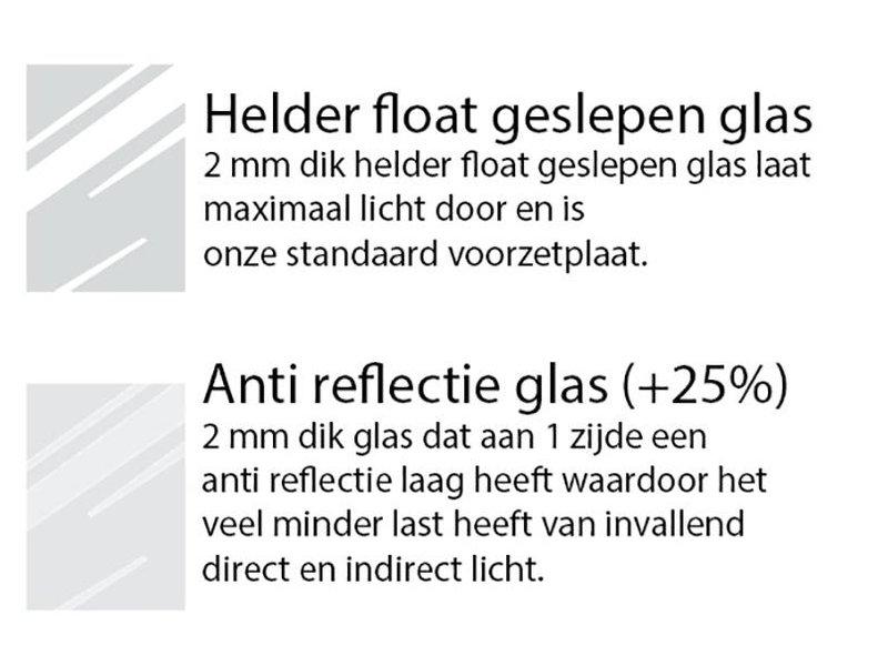 DLF 50x65 cm witte Pro Line wissellijst  extra solide fotolijsten met een smal profiel.