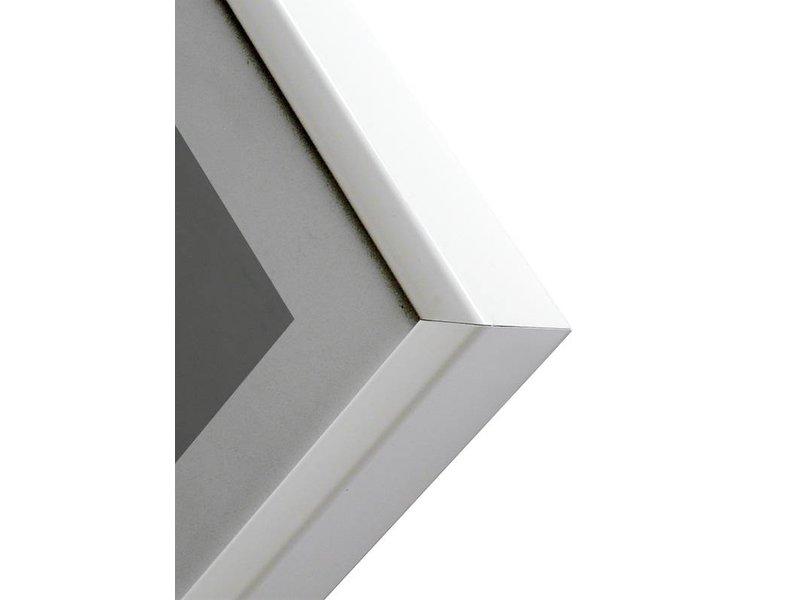 DLF 70x70 cm witte Pro Line wissellijst  extra solide fotolijsten met een smal profiel.