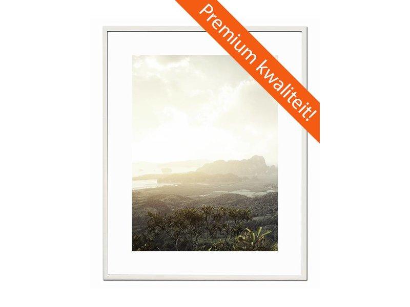 DLF 70x100 cm witte Pro Line wissellijst  extra solide fotolijsten met een smal profiel.