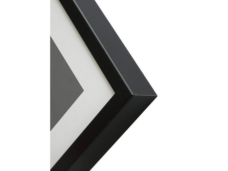 DLF 50x60 cm zwarte Pro Line wissellijst  extra solide fotolijsten met een smal profiel.