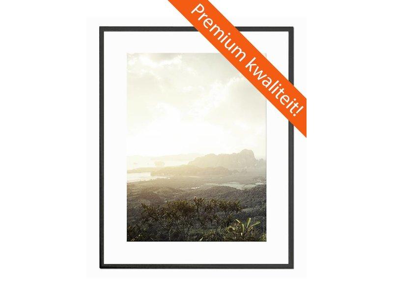 DLF 60x60 cm zwarte Pro Line wissellijst  extra solide fotolijsten met een smal profiel.