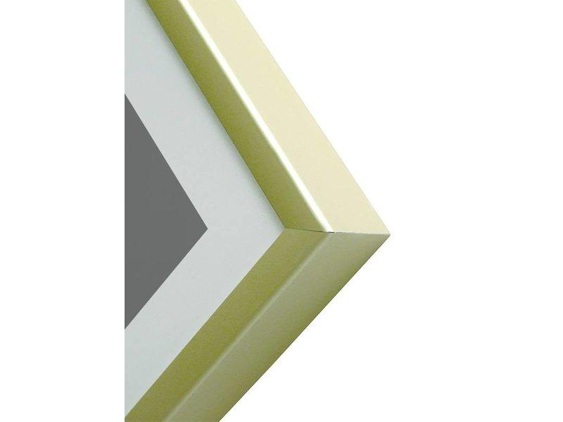DLF 50x60 cm champagne Pro Line wissellijst  extra solide fotolijsten met een smal profiel.