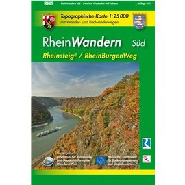 Wanderkarte Rhein Wandern Süd