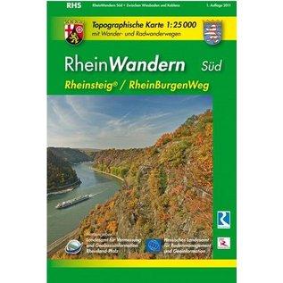 Wanderkarte UNESCO Welterbe Oberes Mittelrheintal Rheinsteig/RheinBurgenWeg