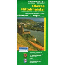"Wanderkarte UNESCO Welterbe Oberes Mittelrheintal ""Rüdesheim/Bingen"""