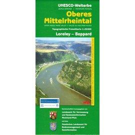 Wanderkarte UNESCO Welterbe Oberes Mittelrheintal Loreley 1:25.000