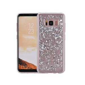 Samsung Galaxy S8 Glitter Hoesje Snippers Zilver