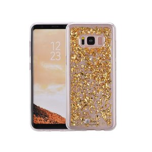 Samsung Galaxy S8 Glitter Hoesje Snippers Goud