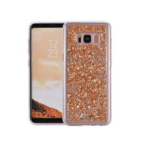 Samsung Galaxy S8 Glitter Hoes Snipper Rose Goud