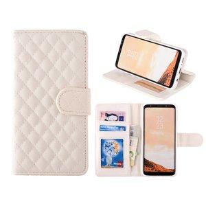 Samsung Galaxy S8 Bookcase Hoesje Ruit Wit