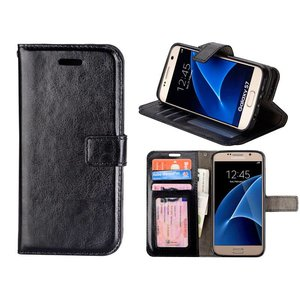 Samsung Galaxy S7 Bookcase Hoesje Zwart