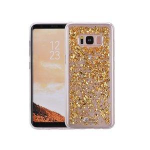Samsung Galaxy S8 Plus Glitter Hoesje Snippers Goud