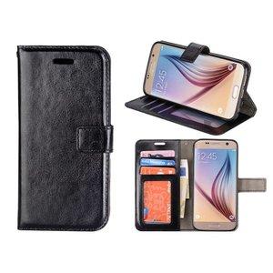 Samsung Galaxy S6 Bookcase Hoesje Zwart