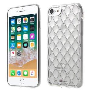 iPhone 8/7 Hoesje 3D Ruitjes Motief Zilver
