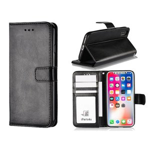 iPhone X Bookcase Hoesje TPU Zwart