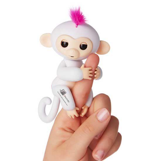 Happy Monkey Vingeraapje Fingerling Sophie Wit