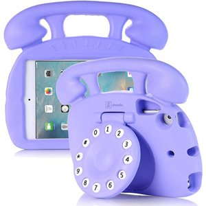 Kinderhoes iPad Mini Retro Telefoon Paars