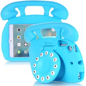 Kinderhoes iPad Mini Retro Telefoon Blauw