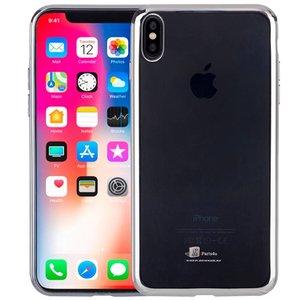 Ultra Dun iPhone X Hoesje Bumper Case Zilver
