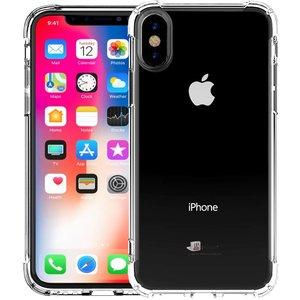 Shockproof iPhone Xs/X Bumper Hoesje Zwart Transp